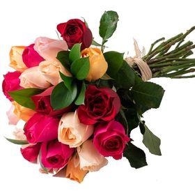 Buquê com 24 Rosas três cores