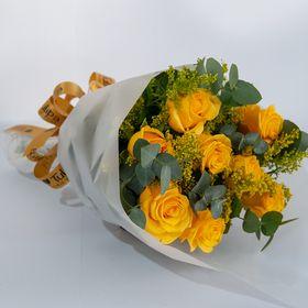 Buquê 08 Rosas Amarelas