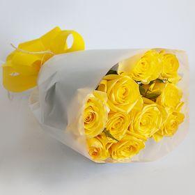 Buque de 10 rosas colombianas amarelas