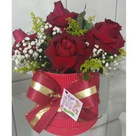 Box  6 rosas Vermelhas
