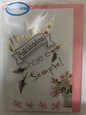 Cartão pequeno- Muitas felicidades