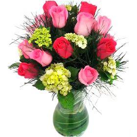 Arranjo de 5 Hortência e 12 Rosas