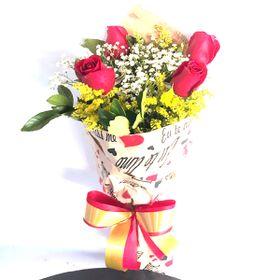 Buquê 4 Rosas