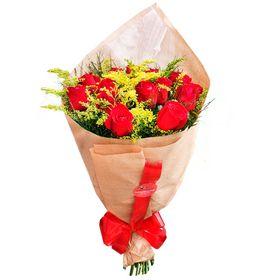 Buquê 18 Rosas Vermelhas.