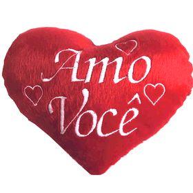 """Pelúcia Coração """"Amo Você"""" 15cm"""