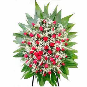 Coroa Luxo com Rosas Vermelhas