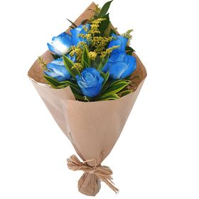Buquê com 6 Rosas Blue