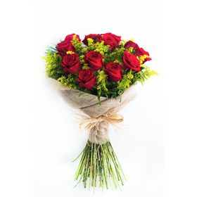 Buquê 12 Rosas e tango
