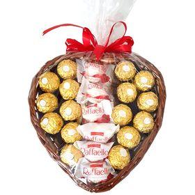 Coração Com Ferrero e Raffaello