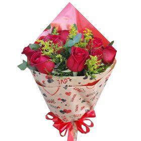Buquê love 12 rosas