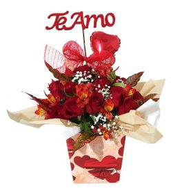Arranjo Love 10 Rosas