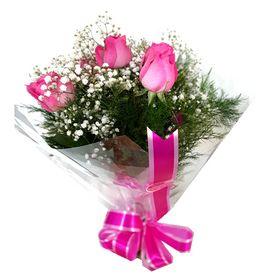 Buquê 6 Rosas cor de Rosa