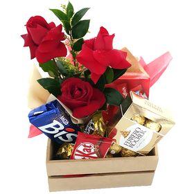 Kit de Rosas e Chocolates