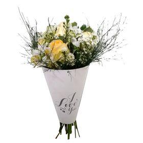 Buquê I love de Flores Brancas