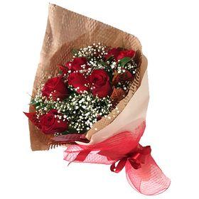 Buquê luxo 12 Rosas Vermelhas