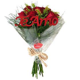 Buquê de Rosas Te Amo