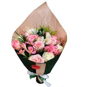 Buque 10 Rosas em Tons Claros