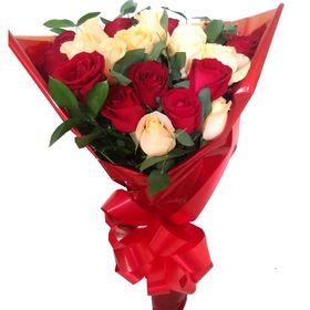 Buquê 18 Rosas em 2 cores