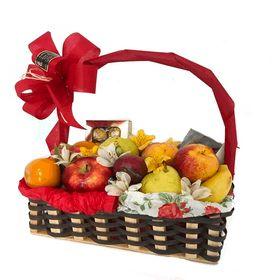 Cesta com  frutas + chocolate