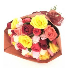 Buquê 30 Rosas Coloridas