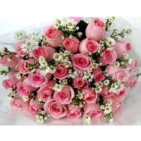 thumb-buque-com-36-rosas-cor-de-rosa-aster-0