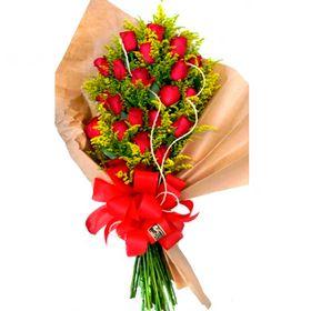 Buquê 24 Rosas Vermelhas e Tango