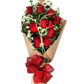 Buquê 10 Rosas vermelhas