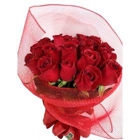 Buquê com 20 Rosas vermelhas