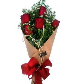 Buquê 5 rosas Vermelhas