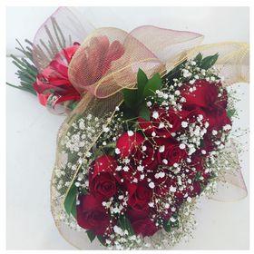 Buquê 24 rosas em Tela Dourada