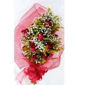 Buquê 12 Rosas Vermelhas + Tango