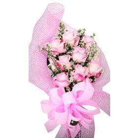 thumb-buque-12-rosas-cor-rosa-estilo-europeu-0