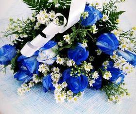 Buquê de 12 Rosas Azul