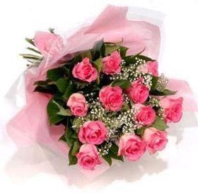 Buque de 15 Rosas Cor De Rosa Delicado