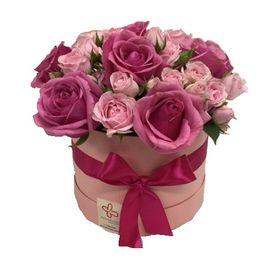 Box de rosas e mini rosas