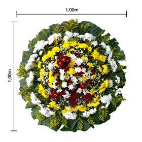Coroa de flores Pequena com flores do campo, Tango e Folhagens