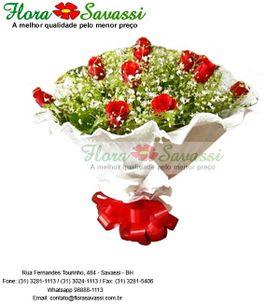 Buquê de rosas pepel crepon