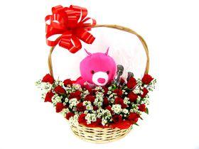 Flores, Ursos de Pelúcia e Chocolates