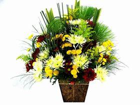 Corbeilles com flores do campo