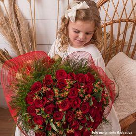 Buquê luxo  50 rosas