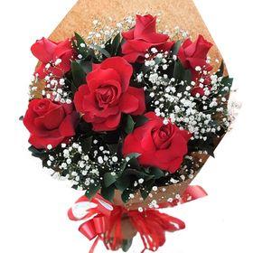 Buquê 6 rosas importadas