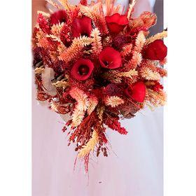Buquê Noiva com Flores Desidratadas