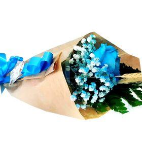 Rosa solitária Azul