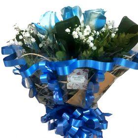 Buquê Blue 6 Rosas