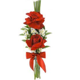 Ramalhete com 2  Rosas Vermelhas