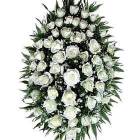 Coroa Fúnebre de Rosas Brancas